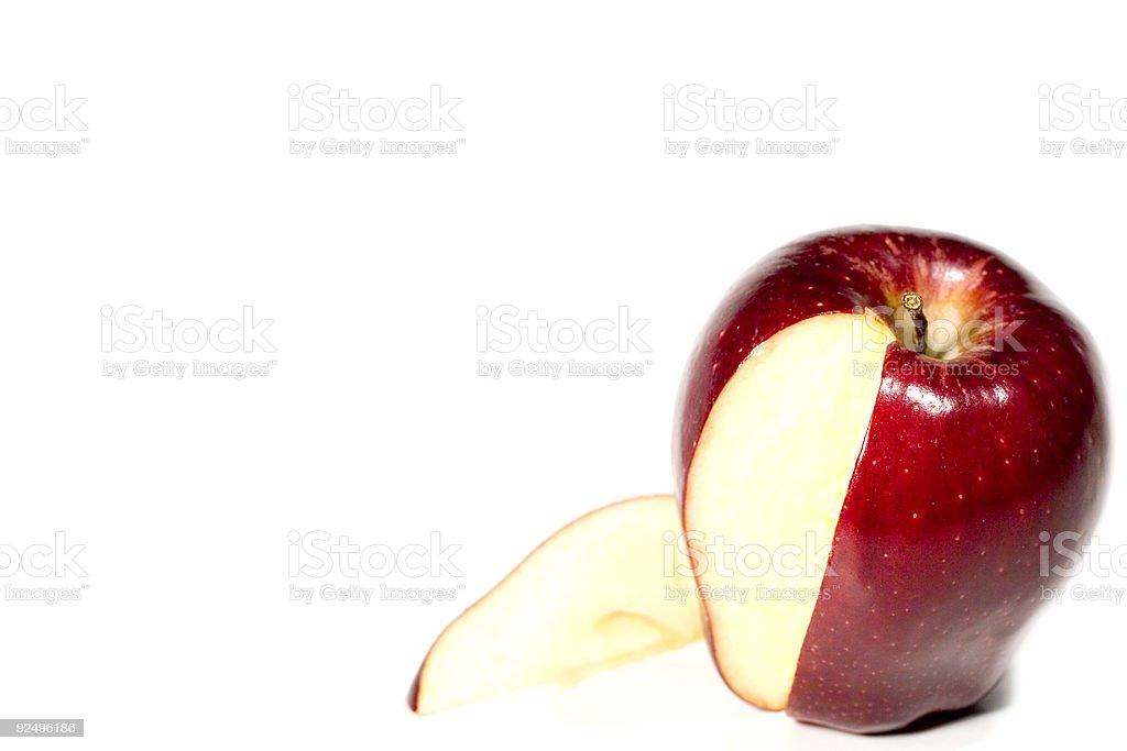 Slice of apple royalty-free stock photo