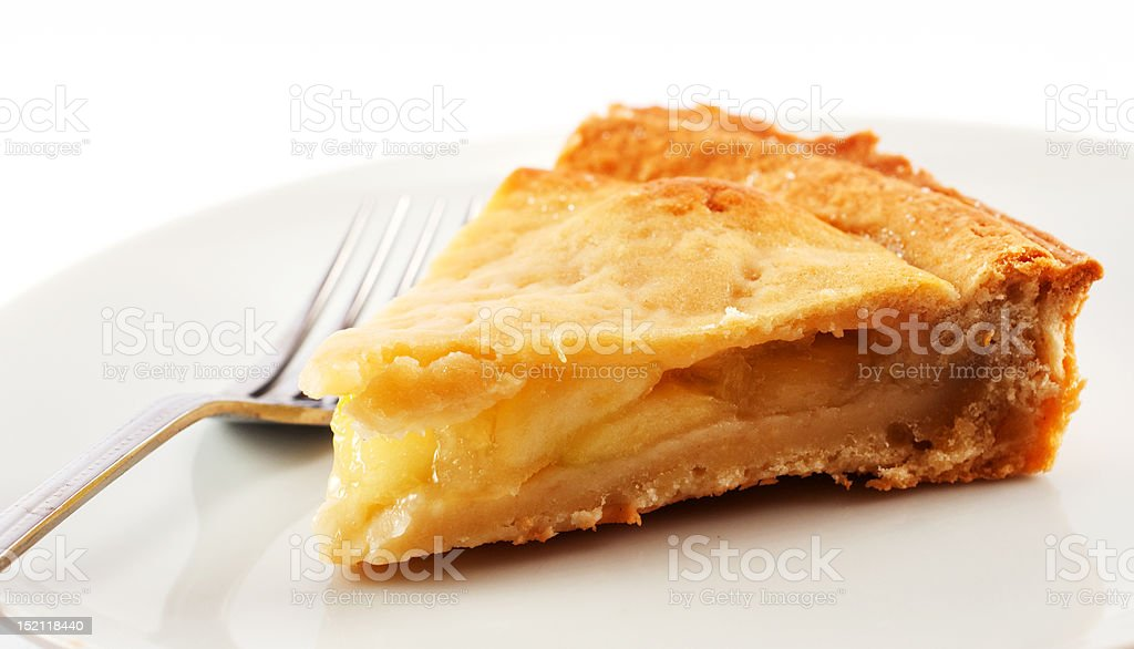Slice of Apple Pie royalty-free stock photo