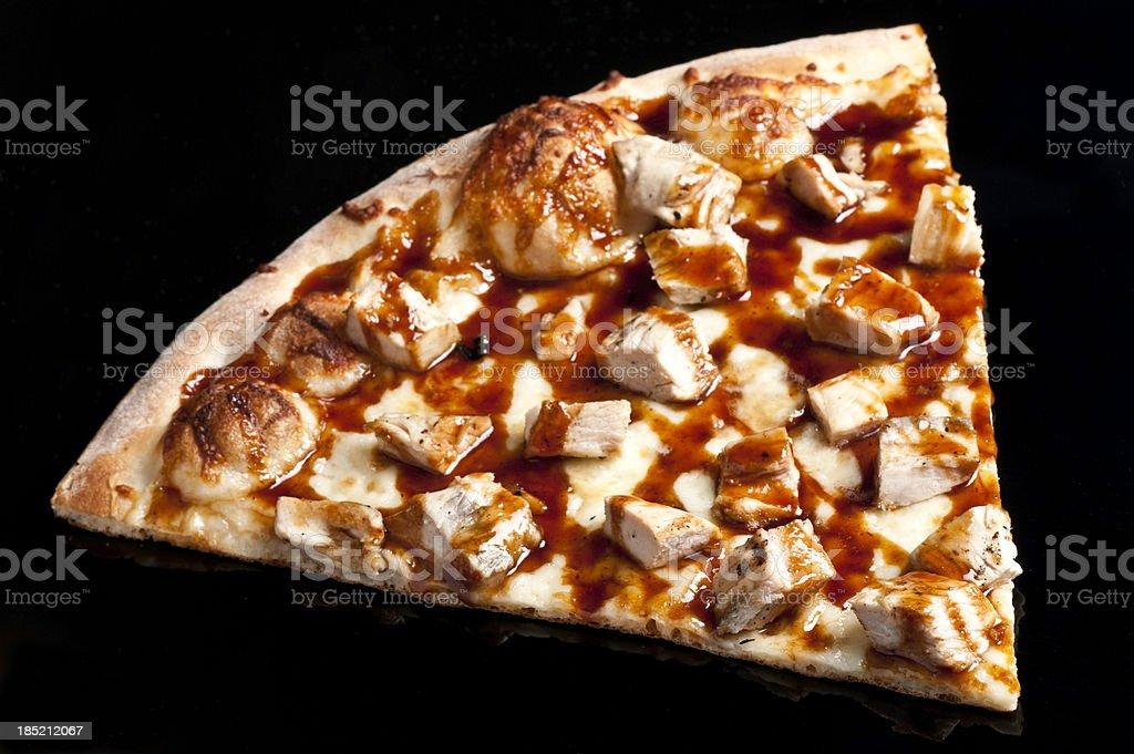 Slice of Barbecue Chicken Pizza stock photo