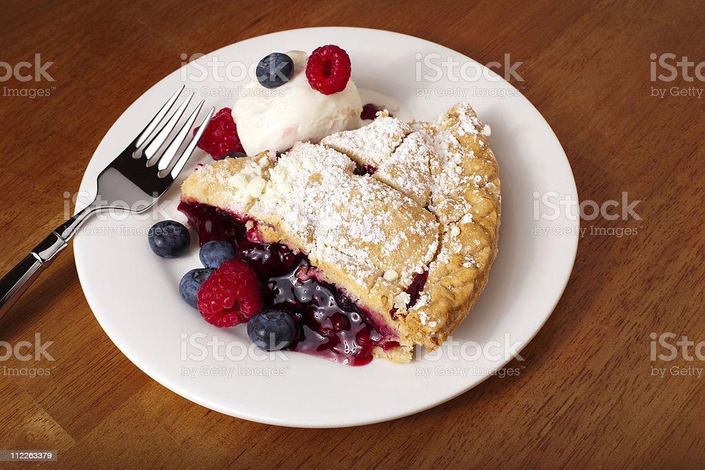 Slice Of Berry Pie stock photo