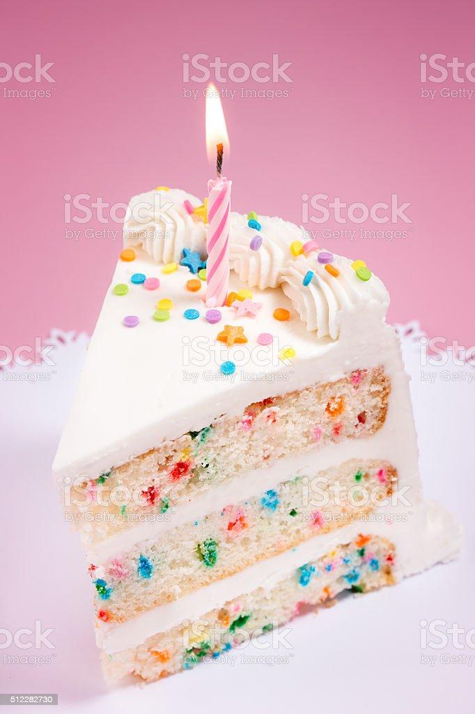 Wondrous Slice Of Birthday Cake Stock Photo Download Image Now Istock Personalised Birthday Cards Paralily Jamesorg