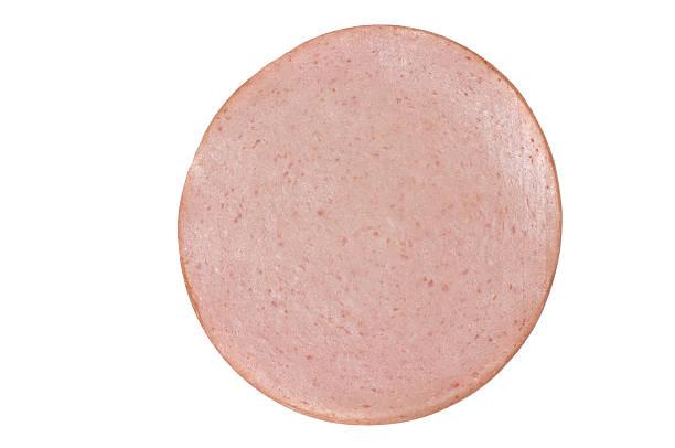 Slice of Bologna stock photo