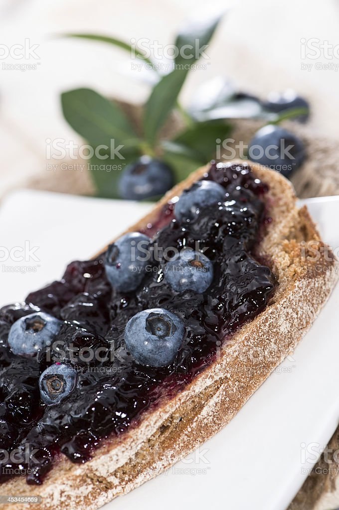 Slice of Bread with Jam royalty-free stock photo