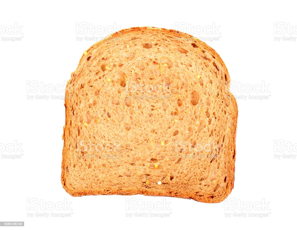 Slice of bread with seeds stock photo