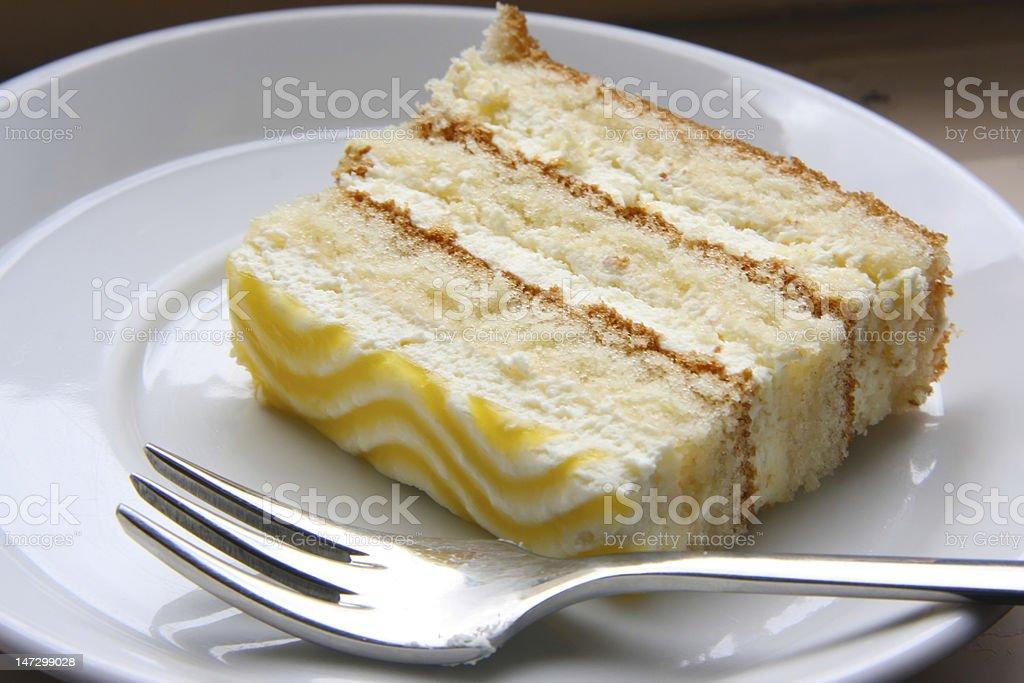 Slice of cake stock photo
