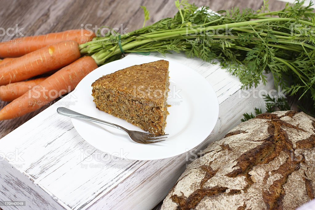 slice of carrot cake royalty-free stock photo