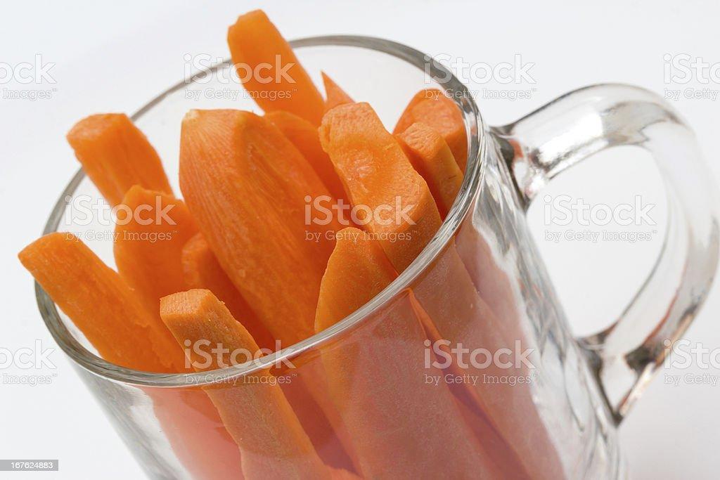Slice of carrot stock photo