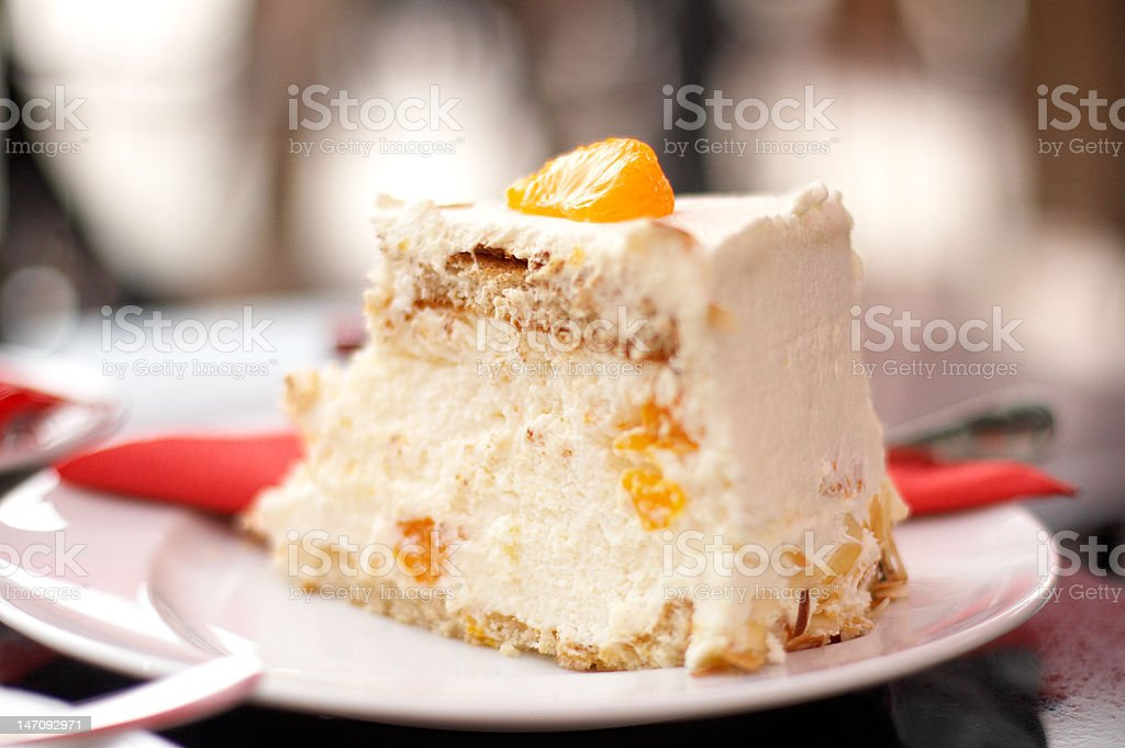slice of cheese cake royalty-free stock photo