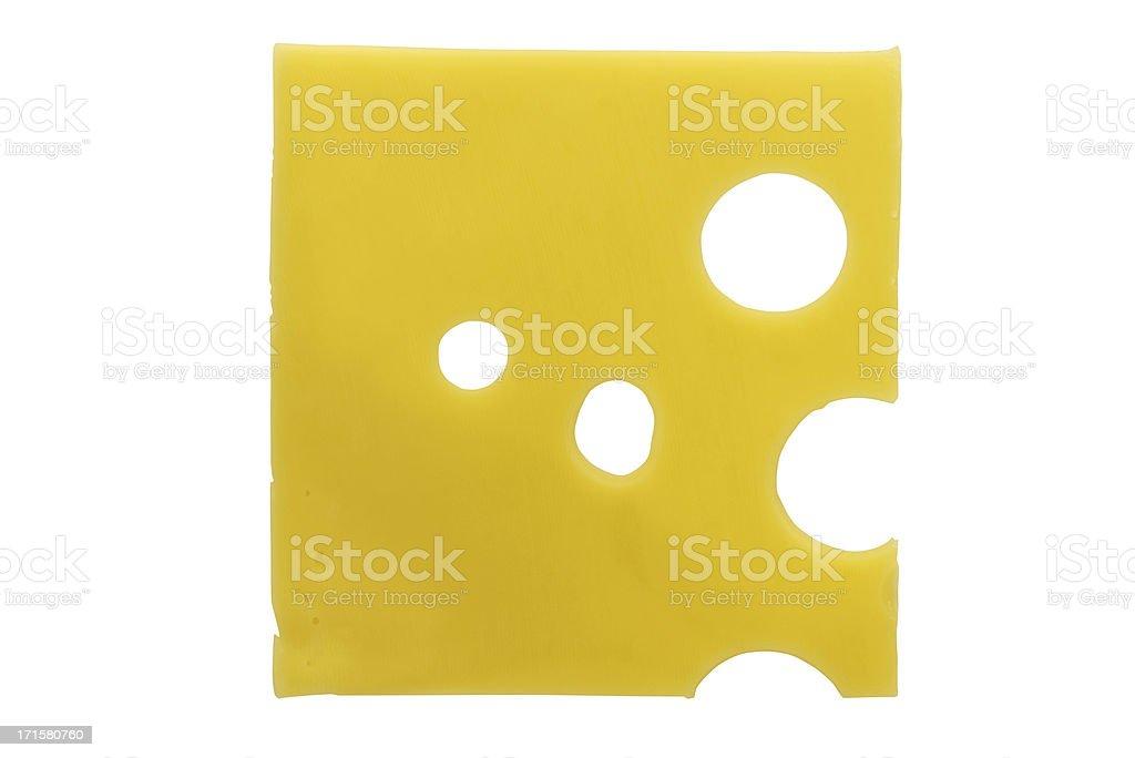 Slice of cheese stock photo