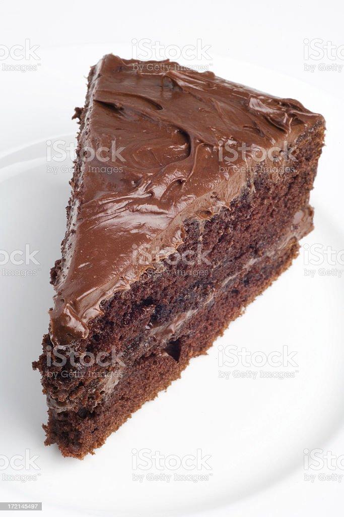 Slice of Chocolate Cake royalty-free stock photo