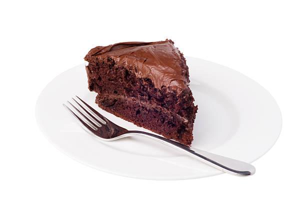 slice of chocolate cake - кусок торта стоковые фото и изображения