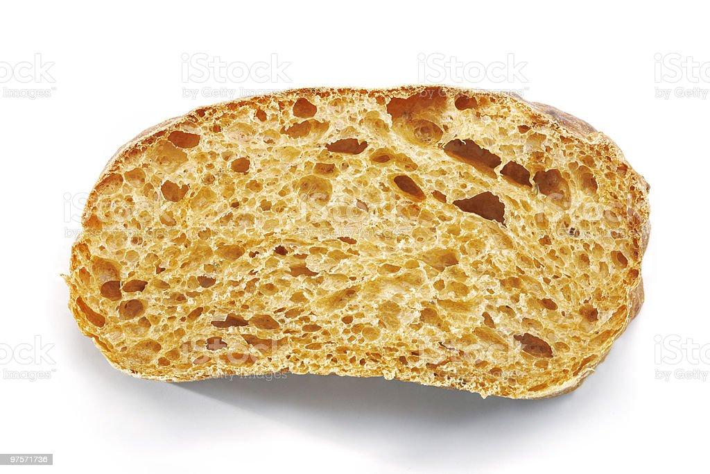Tranche de pain Ciabatta. photo libre de droits