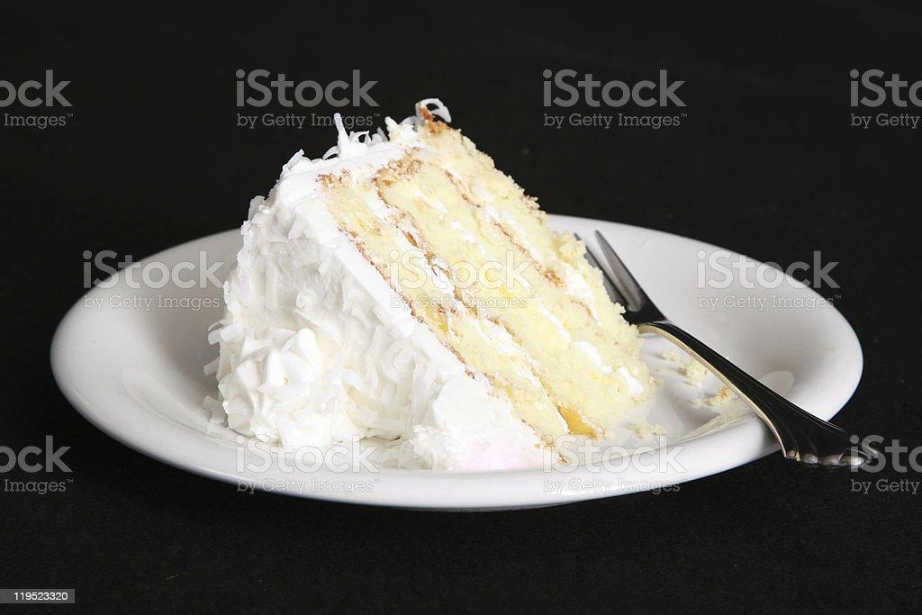 Fatia de bolo de coco - foto de acervo