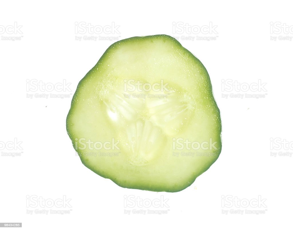 Slice of Cucumber royalty-free stock photo