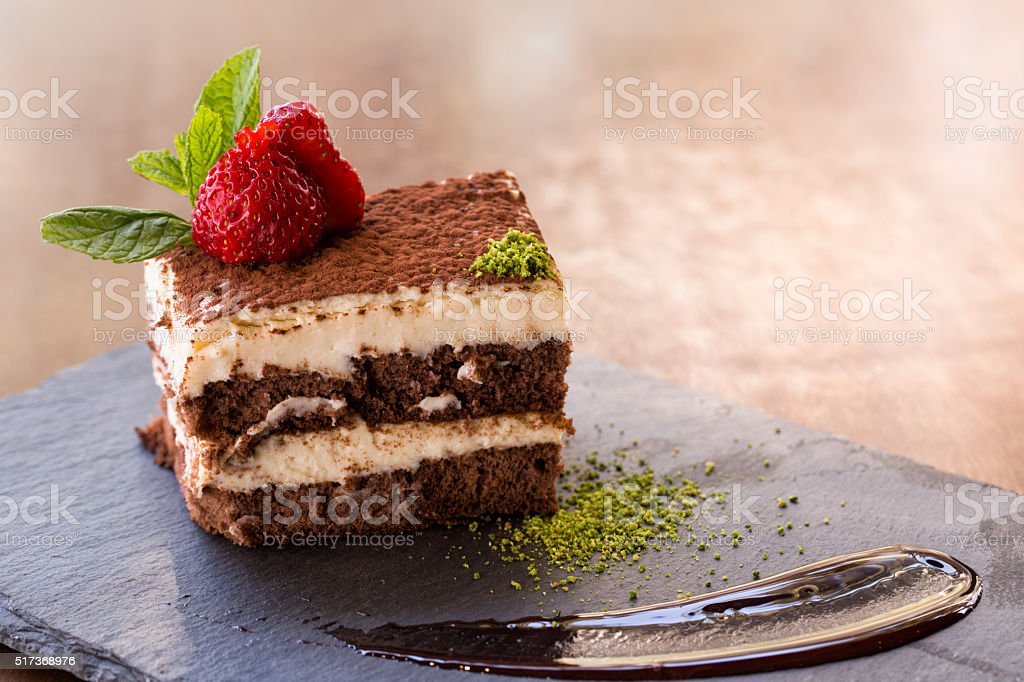 slice of dessert stock photo