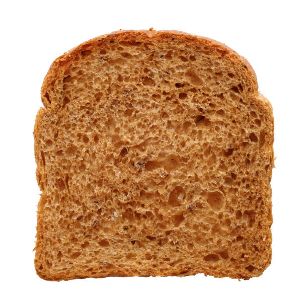 Slice of fresh multigrain bread stock photo