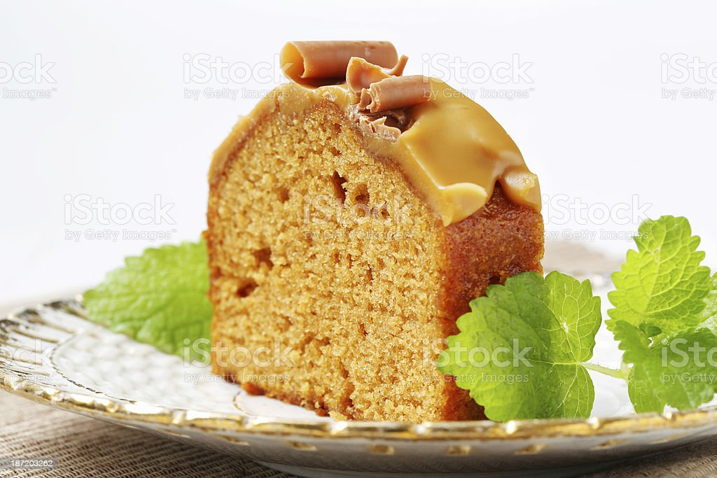 Slice of gingerbread cake royalty-free stock photo
