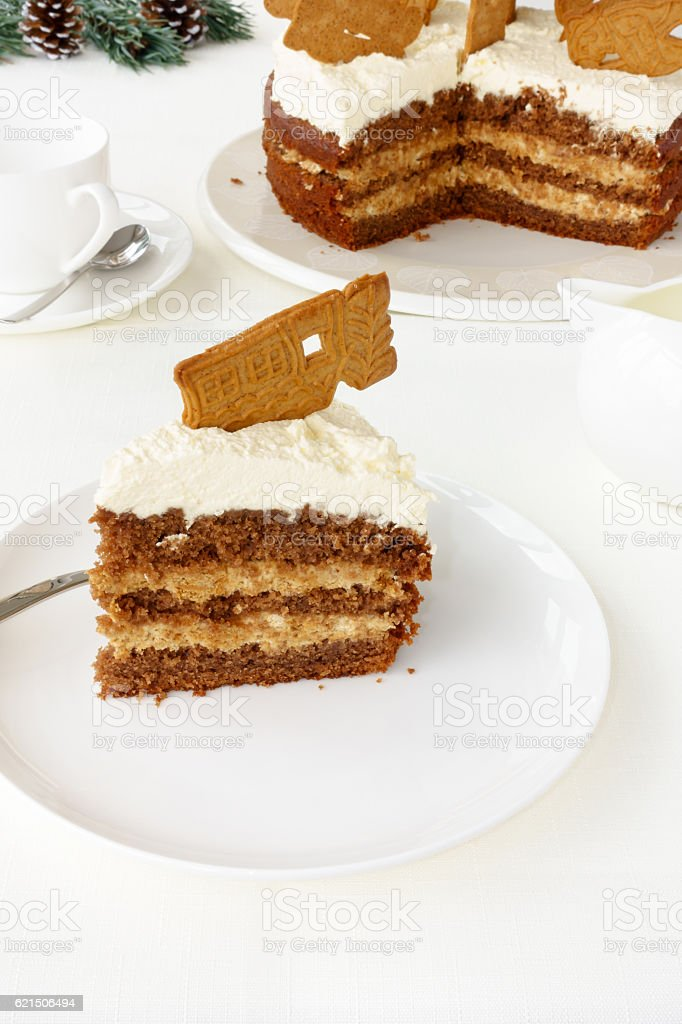 Slice of Gingerbread Cake foto stock royalty-free