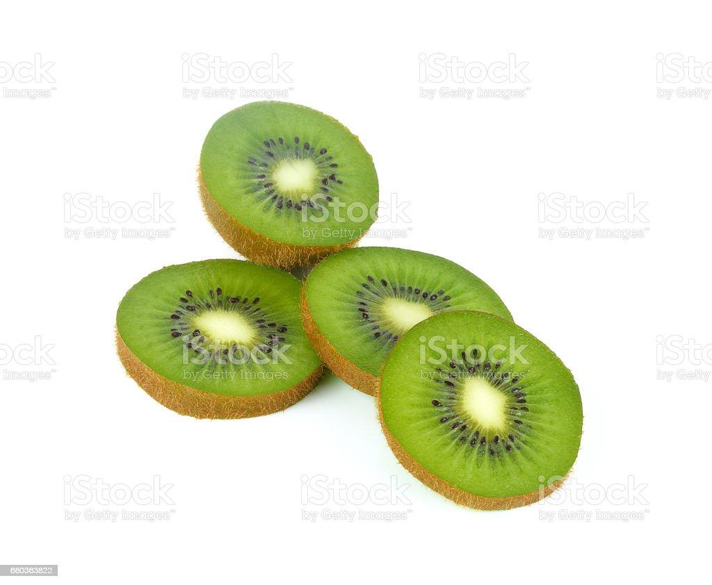 slice of kiwi isolated on white background royalty-free stock photo