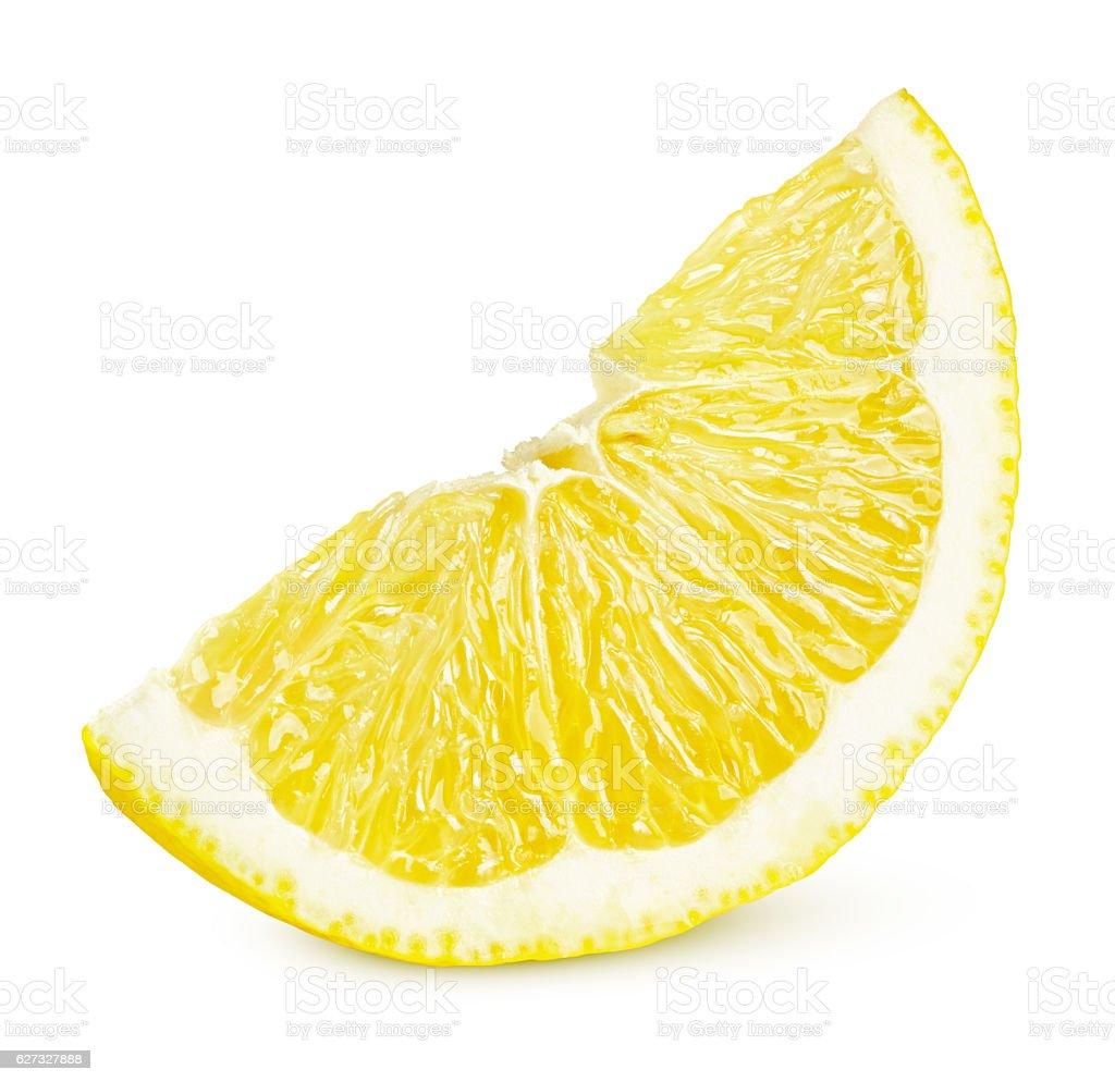Slice of lemon citrus fruit stock photo