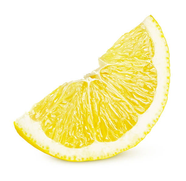 Slice of lemon citrus fruit stock photo