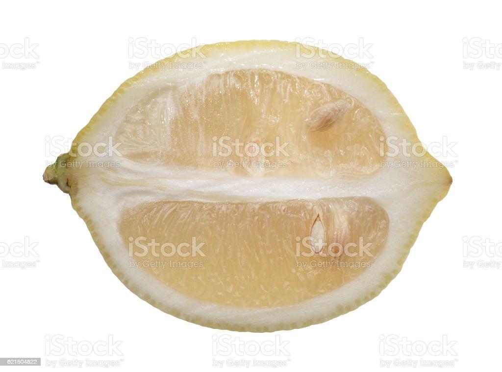 Fetta di limone con frutta foto stock royalty-free