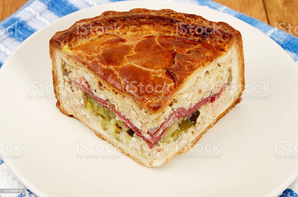 Slice Of New York Deli Pie On Plate royalty-free stock photo