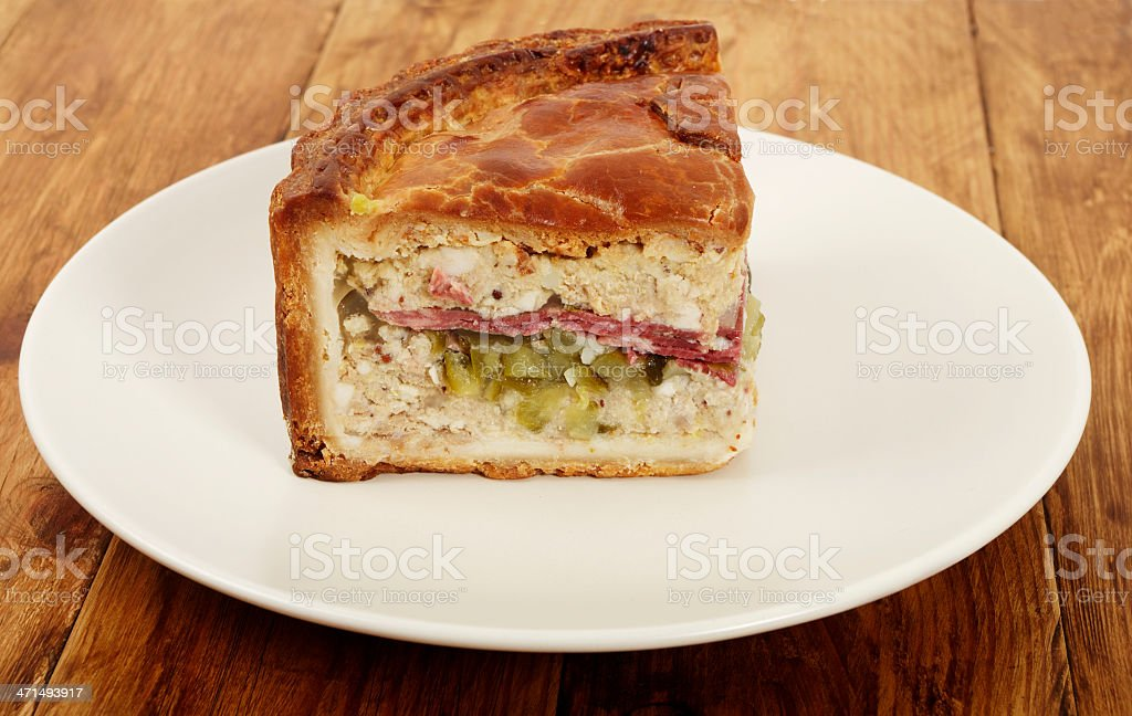 Slice Of New York Deli Pie On Plate royalty-free stock photo