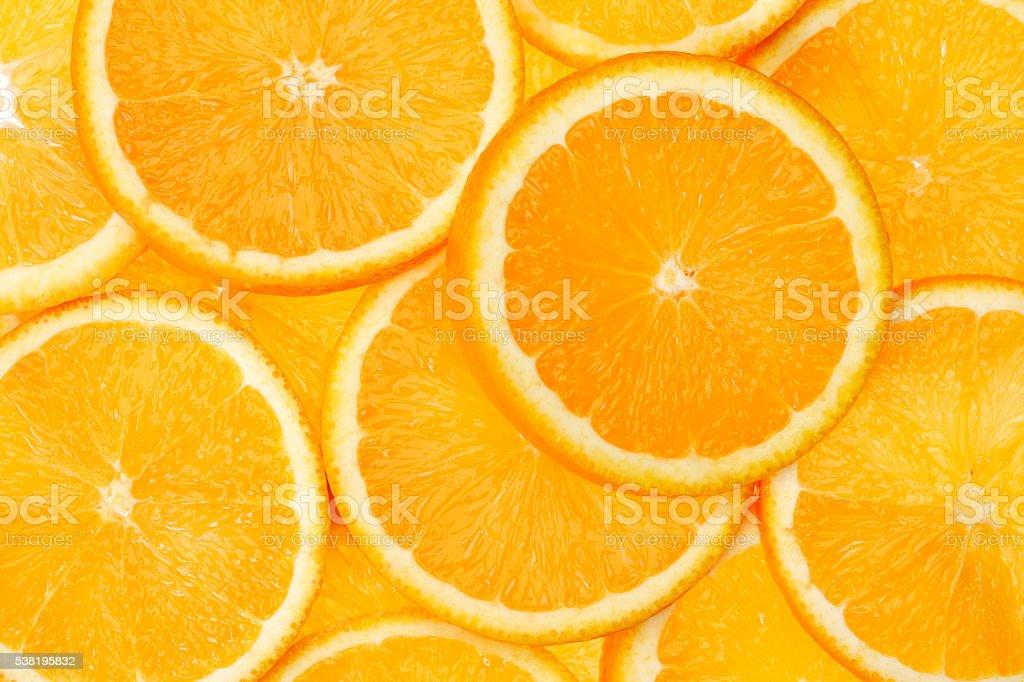 Slice of orange fruit stock photo