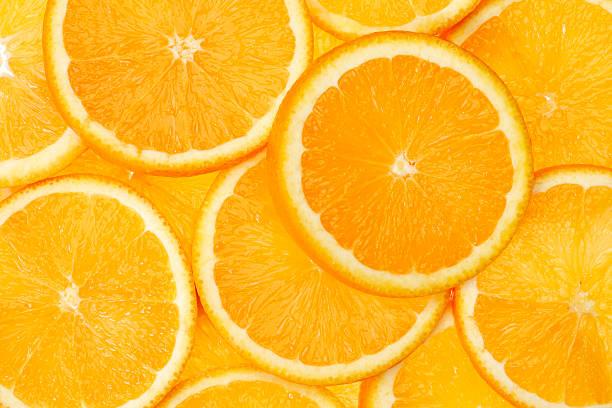 tranche d'orange - orange photos et images de collection