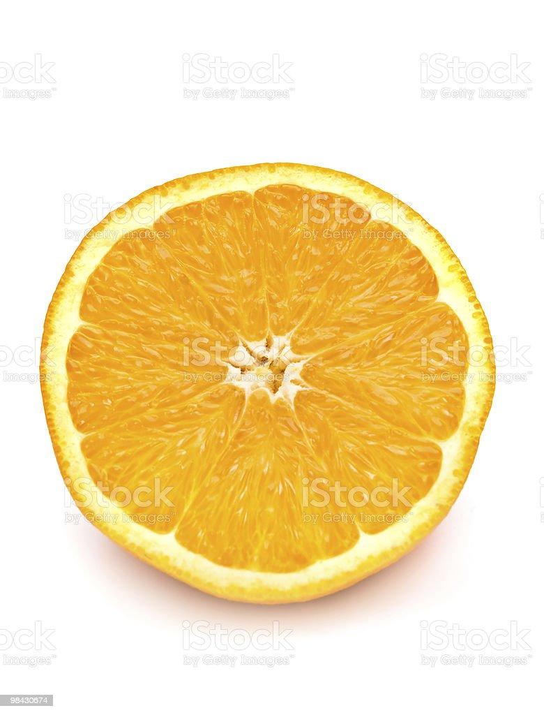 Fetta di orange. isolato su bianco. foto stock royalty-free