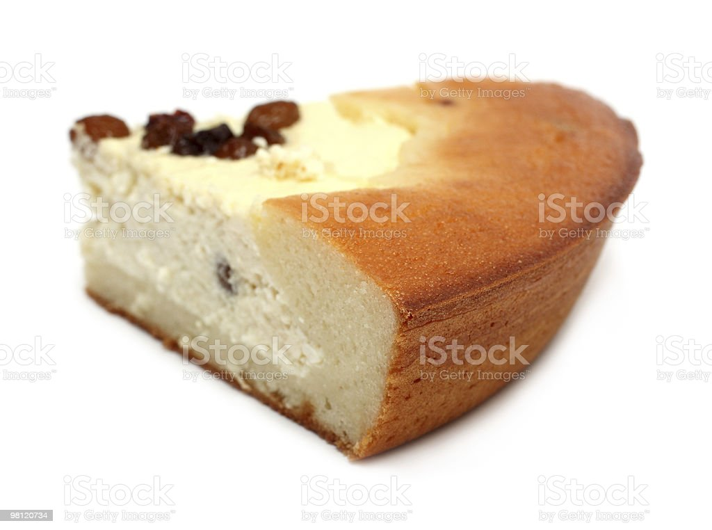 slice of pie with curds filling royalty-free stock photo