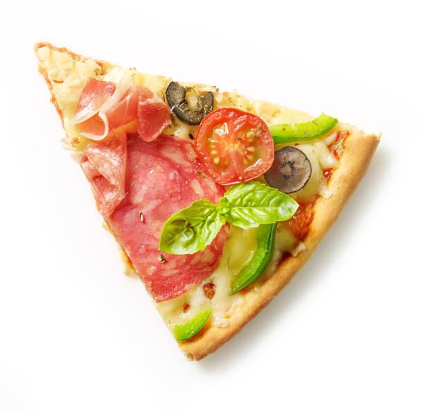 slice of pizza - fetta foto e immagini stock
