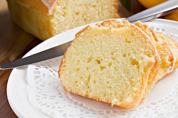 stück pound cake - brottorte stock-fotos und bilder