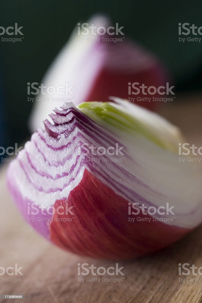 slice of red onion royalty-free stock photo