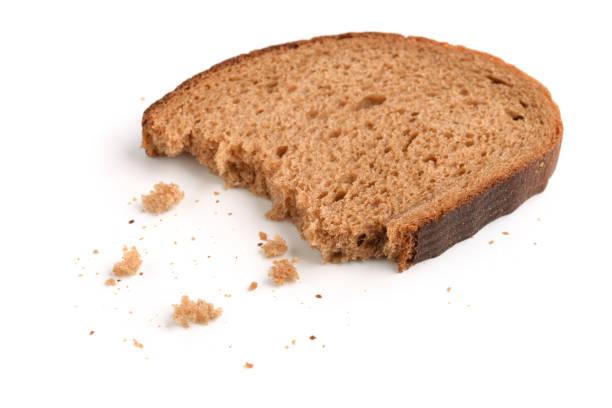 Slice of rye bread stock photo