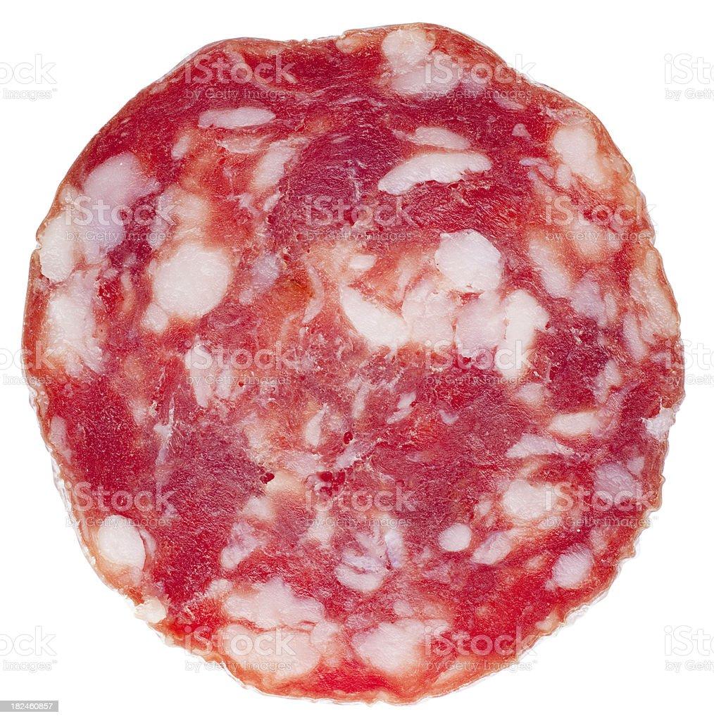 Slice of salami royalty-free stock photo