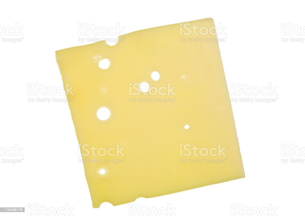 Slice of Swiss Cheese royalty-free stock photo