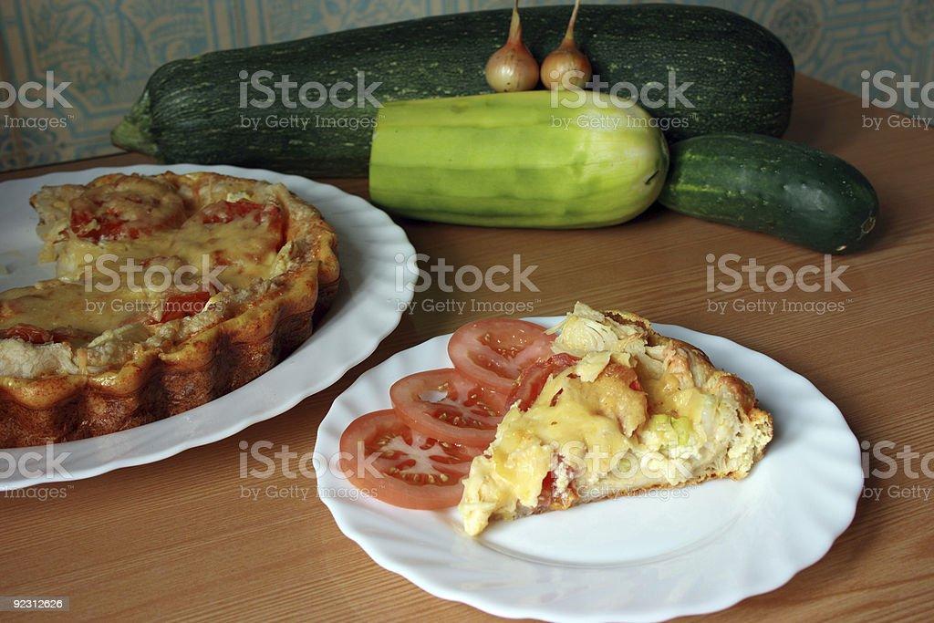 Slice of Tasty Quiche stock photo