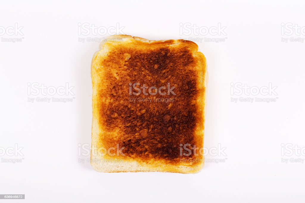 slice of toast on a white background stock photo more pictures of