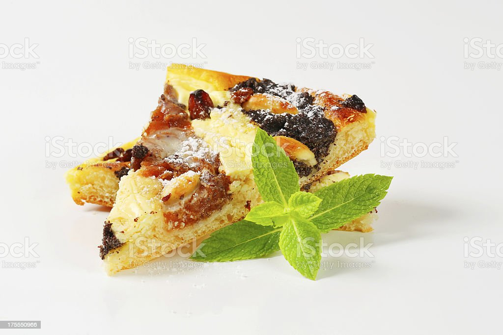 Slice of traditional Czech pie isolated on white royalty-free stock photo