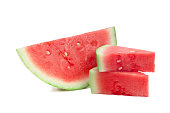Watermelon on green background