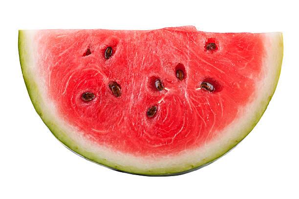 Slice of Watermelon on white stock photo