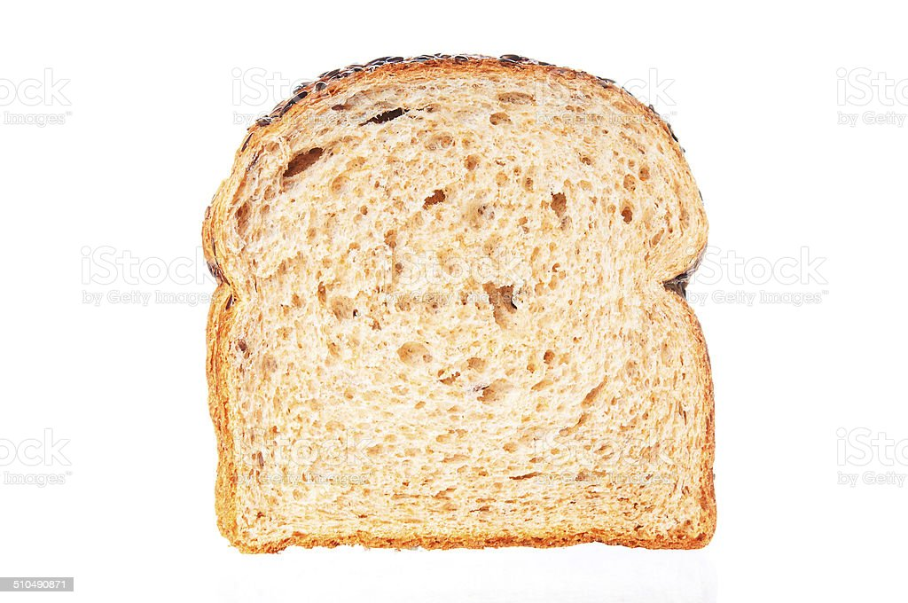 Slice of wheat bread stock photo