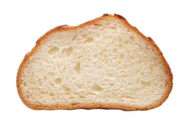 Slice of white wheat bread stock photo