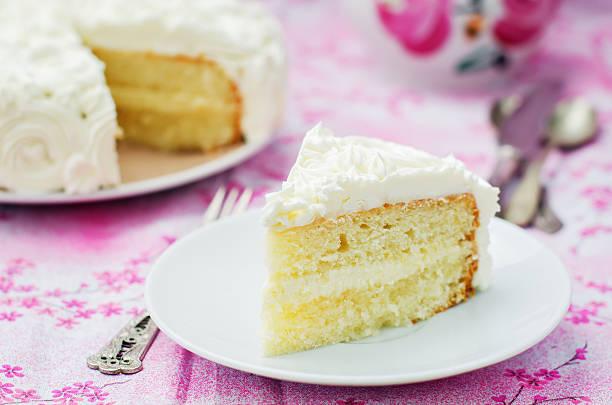 торт и ванильное мороженое в виде роз - кусок торта стоковые фото и изображения