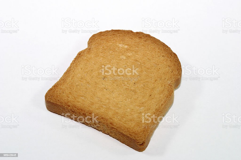 Slice of zwieback royalty-free stock photo