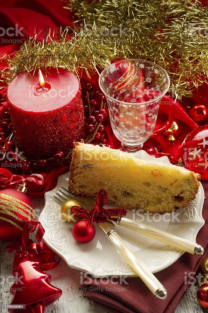 slice panettone royalty-free stock photo