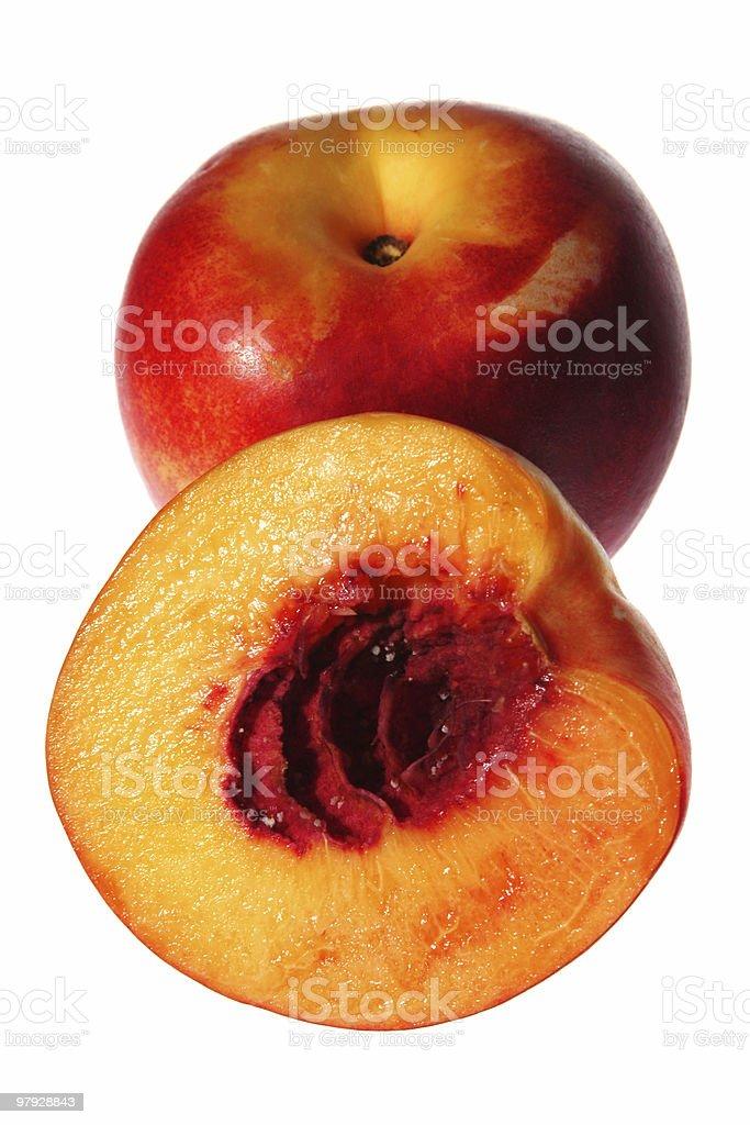 Slice peach detail royalty-free stock photo