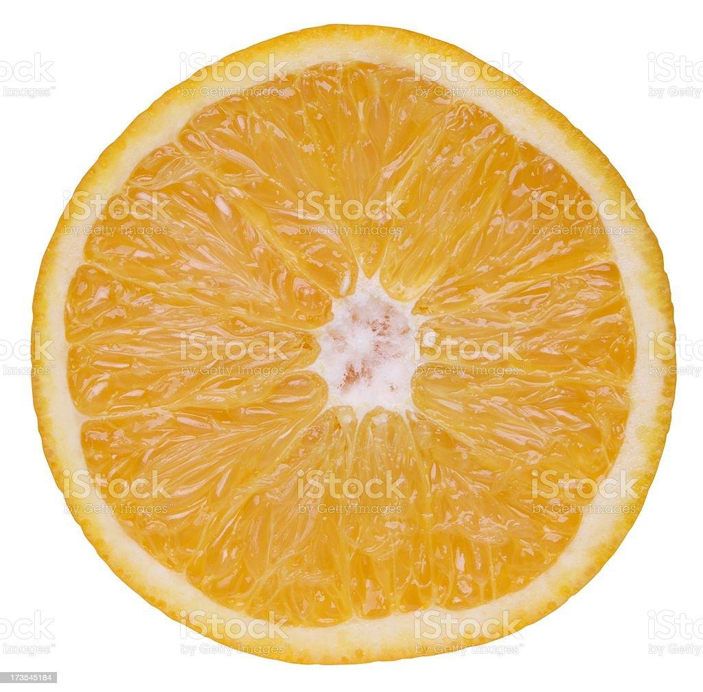 Slice the orange XXL + Clipping path stock photo